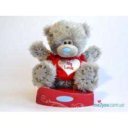 Мишка Тедди в футболочке Big love 18 см (G01W2038)