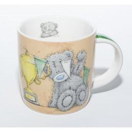 Жёлтая чашка Мишка Teddy вешает гирлянду Ты супер (0665.405/1)