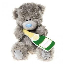 Мишка Тедди с бутылочкой шампанского с надписью Congratulations 18 см (G01W3204)