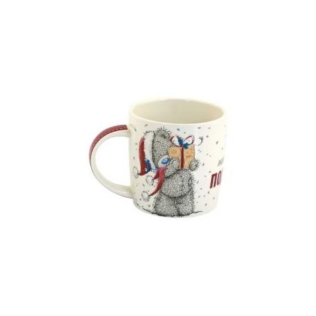 Новогодняя чашка с Тедди, надпись Ты настоящий подарок (0665.406/5)