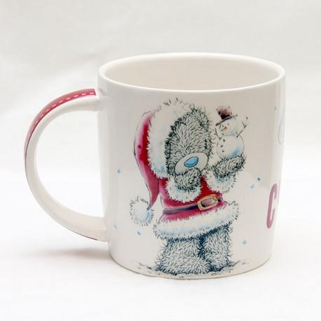 Кружка с новогодним Тедди и надписью Кружка на счатье (0665.406/2)