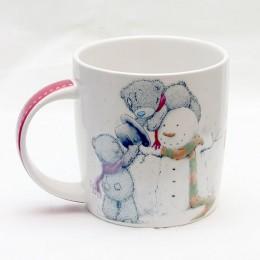 Чашка Тедди и снеговик С Новым Годом! (0665.406/4)